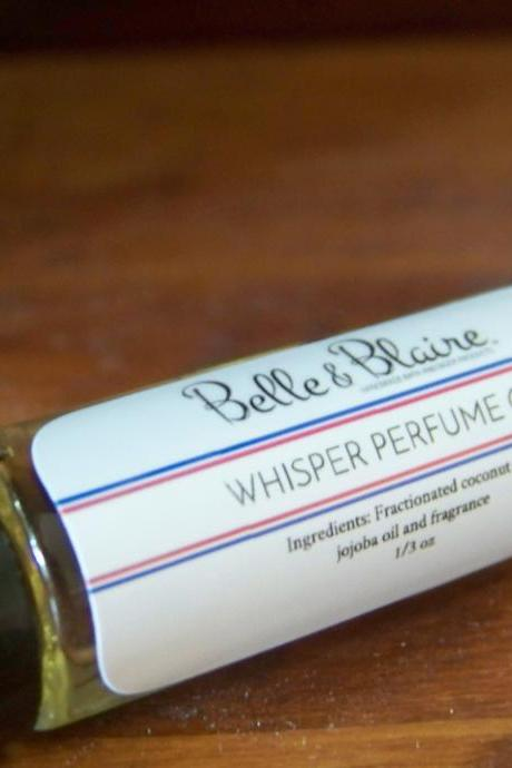 Whisper Perfume Oil- Apple Blossom, Rose Petals, Lily of the Valley- Roll On Perfume