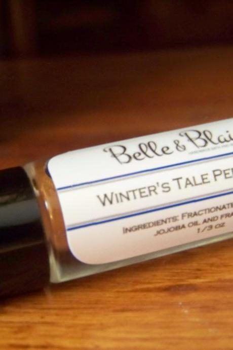 Winter's Tale Perfume Oil- Sandalwood, Patchouli, Chocolate, Raspberry, Strawberry, Blueberry, Vanilla, Peppermint- Roll On Perfume