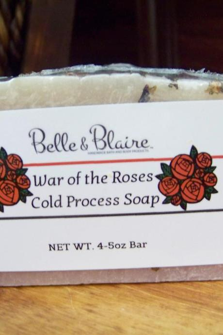 War of the Roses Cold Process Soap- Turkish Rose, Citrus, Tonka Beans