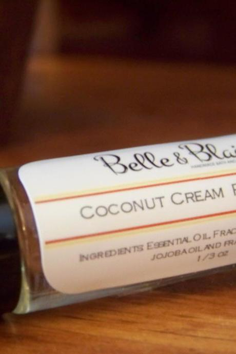 Coconut Cream Perfume Oil- Island Coconut, Vanilla Bean, Churned Butter- Roll On Perfume