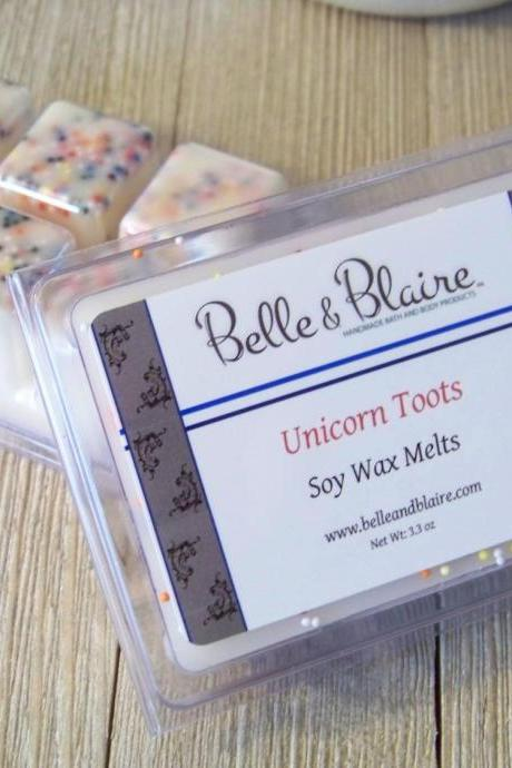 Unicorn Toots- Soy Tarts- Scented Wax Melts