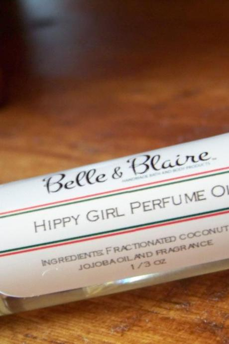 Hippy Girl Perfume Oil- Patchouli, Sandalwood, Incense- Roll On Perfume