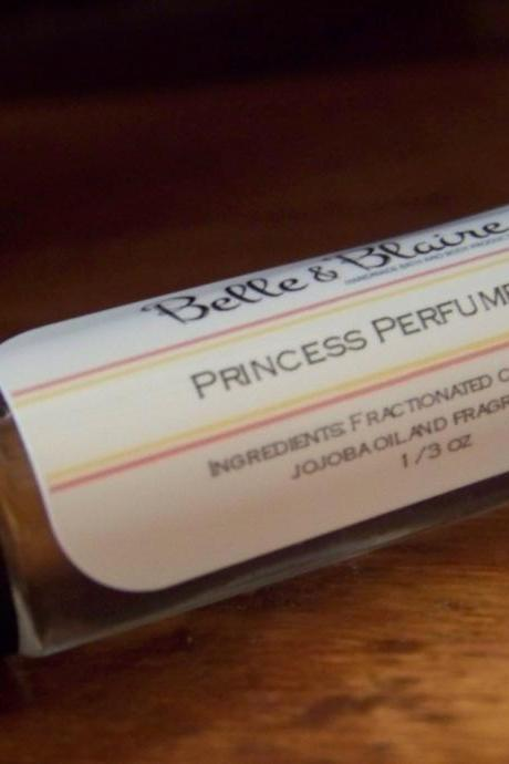 Princess Perfume Oil- Sweet Pears, Peaches, Light Musk, Baby Powder- Roll On Perfume