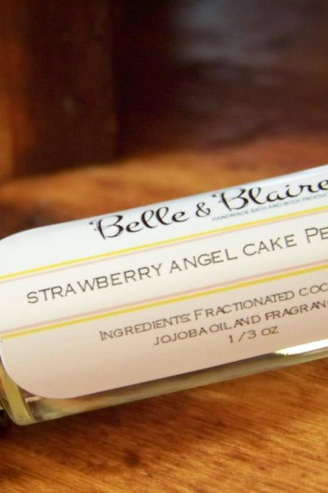 Strawberry Angel Cake Perfume Oil- Strawberries, Angel Cake, Buttercream- Roll On Perfume
